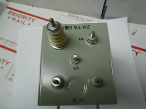 A9200 1 High Voltage Transforer115vac 60cps 9 0kvdc 145 Ma tap 300 34 5ua Nos