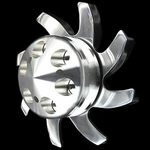 Billet Aluminum Alternator Fan And Pulley Fits Big Block Chevy 396 427 454