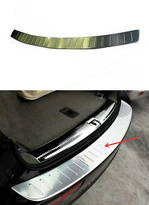 Stainless Rear Bumper Guard Protector Sill Plate Cover For Audi Q5 2009 2015 b