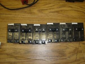Lot Of 6 Circuit Breakers Challenger 30 Amp 2 Pole Amp Free Shipping