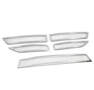 11 16 Dodge Journey Se Front Upper Bumper Stainless Steel Mesh Grille Insert Set