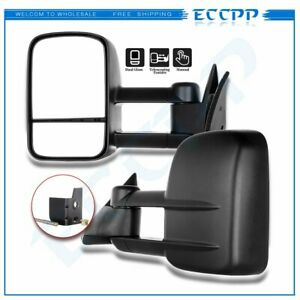 Tow Mirrors Manual Side Mirrors Telescoping For 1988 98 Chevy gmc C k 1500 2500