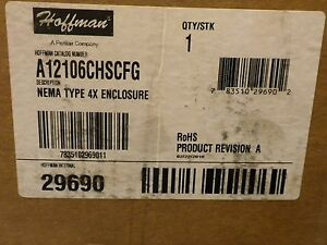 New Hoffman Nema Type 4x Enclosure A12106chscfg