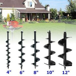 4 6 8 10 12 Bits Drill For Earth Auger Post Hole Digger Fence Soil Drill