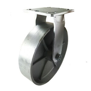 8 X 2 Heavy Duty steel Wheel Caster Rigid
