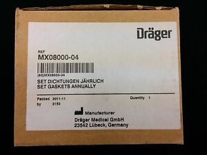 Drager Mx08000 Set Gaskets Annual Draeger