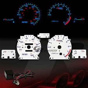 Reverse White Dash Cluster Indiglo Glow Gauge For 93 97 Nissan Altima Gle Gxe Se