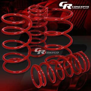 For 95 99 Nissan Maxima A32 Coil Suspension Red Race Lowering Springs 2 Drop
