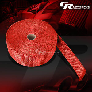 10m 32 Feet Header Manifold Downpipe Piping Exhaust Insulating Red Heat Wrap