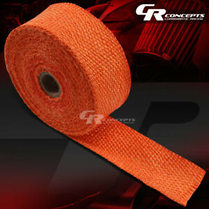 7 5m 295 2 W Header Manifold Downpipe Piping Exhaust Insulating Orange Heat Wrap