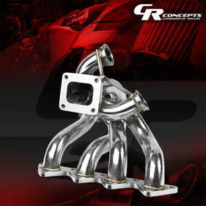 For Honda B Series Dual Wastegate Port T4 Ram Horn Racing Turbo Charger Manifold