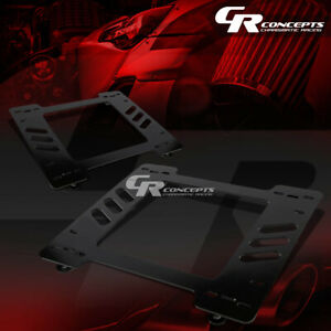 2x Left Right Racing Bucket Seat Mounting Bracket For 67 69 Gm Camaro Firebird
