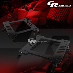 2x Left right Racing Bucket Seat Mounting Bracket For 02 06 Lancer evo 7 8 Ct9a