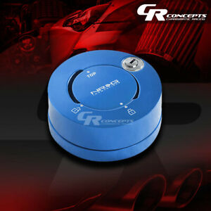 Nrg Universal Steering Wheel Quick Release Adaptor Anti Theft Security Lock Blue