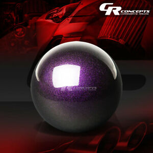 Nrg Ball Style M10x1 5 Weighted 5 Speed Gear Shifter Shift Knob Kit Purple