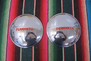 Vintage 1946 1947 1948 1949 Plymouth Replacement Hub Caps Nors Dog Dish Hubcaps