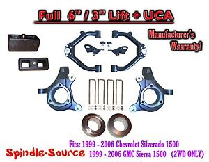 99 07 Chevy Silverado Gmc Sierra 1500 Full Spindle 6 Lift Kit 6 3 Nbs Uca