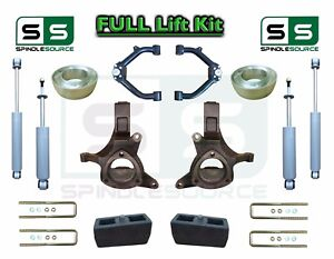 1999 07 Chevrolet Silverado Sierra 1500 Spindle Lift Kit 6 3 Shocks Uca