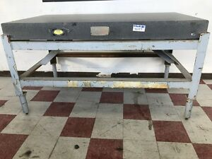 72 l X 40 w X 6 thk Ace Granite Surface Plate With Stand