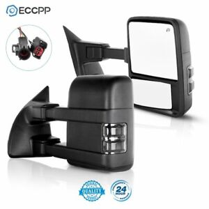 For 1999 02 Ford F250 F550 Superduty Side Mirrors Power Heated Tow Side Mirrors