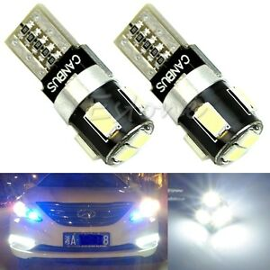 2x T10 W5w 6 Led 5630 Smd Fpc Canbus Error Free Car Wedge Light Lamp Bulb White