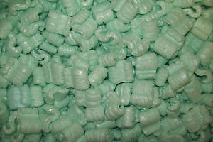 Packing Peanuts Loose Fill Anti Static Green 12 Cubic Feet 90 Gallons Brand New
