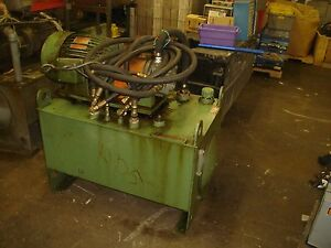Vickers V201p11p Hydraulic Power Unit For Compactor 7 5hp 15 Gpm