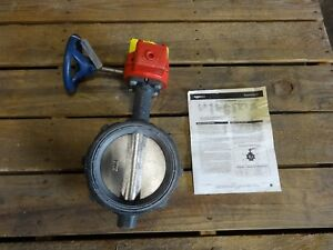 Nibco 6 Wafer Butterfly Valve With Gear Operator Wd 3510 4