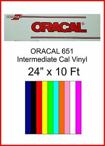 24 X 10 Ft Roll Oracal 651 Sign Cutting Vinyl Indoor outdoor W Perm Adhesive