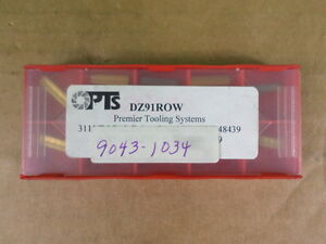 Lot Of 10 Premier Tooling Systems Dz91row Tin Inserts