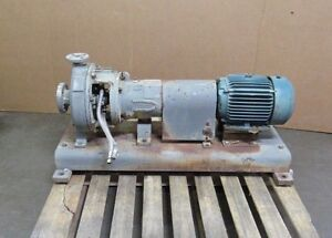 Durco Mark Iii 2k2x1 10a 90s0 S s Centrifugal Chemical Pump 5hp 230 460v 3ph