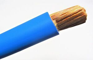 100 Ft 1 Awg Welding battery Cable Blue 600v Pure Copper Usa Made 105c