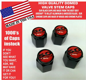 Billet Fits For Ford 5 0 Red Coyote Mustang Cobra Shelby Gt Valve Stem Caps