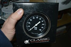 Classic Instruments Hot Rod Series Old School Tach X100 10k Old Stock