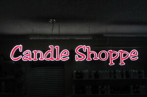 Led Building Sign Candle Shoppe
