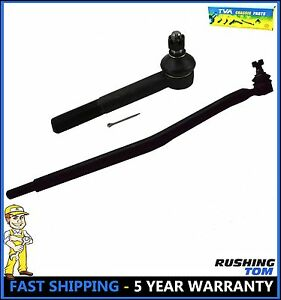 2 Pc Kit Front Left Driver Right Passenger Drag Link Tie Rod F250 F350 4wd 99 04