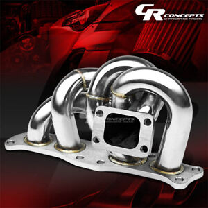 For 86 93 Celica 91 95 Mr2 3sgte T3 Stainless Racing Turbo Charger Manifold Kit