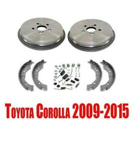 New Rear Brake Drums Brake Shoes Drum Hardware For Toyota Corolla 2009 2015