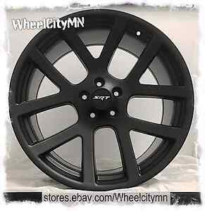 20 X9 Matte Black Dodge Charger Viper Srt 10 Oe Factory Replica Wheels 300 5x115