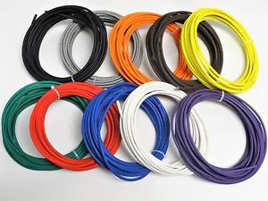 100 Automotive Wire 10 Awg High Temp Gxl Wire 10 Ft Each Color Made In U s a