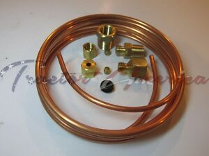 Oil Pressure Mechanical Gauge Line Kit 1 8 X 6 Copper Tubing Kit Car Truck