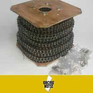 40 40 1 Roller Chain 100ft Reel W 10 Master Links Go Kart Cart 40r 1 2 Pitch