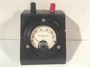 Vintage Weston Electric Instrument Co D c Milliamperes Gauge 0 500 Model 301