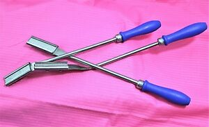 New Set Of 3 Equine Dental Float Rasp Down up straight Veterinary Instruments
