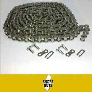 40ss Stainless Steel Roller Chain 10ft With 2 Master Links 1 2 Pitch