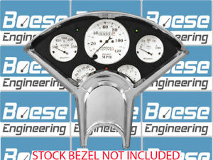 55 56 Chevy Anodized Aluminum Dash Panel W Auto Meter Old Tyme White Gauges