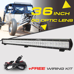 4d 36inch 546w Cree Led Light Bar Work Spot Flood Car Boat Offroad Pickup 42 50