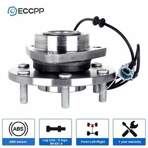 Front Wheel Hub And Bearing Assembly New Fits Armada Titan 2wd 4wd W Abs 6 Lug