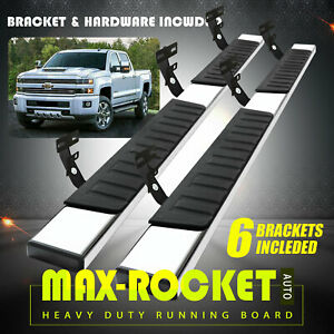 For 09 20 Dodge Ram 1500 Quad Cab 6 Running Board Nerf Bar Side Step Chrome H