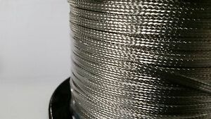 On Reel 50 Feet Of Flat Braided Tinned Copper Wire 3 16 Wide Ground Strap Usa